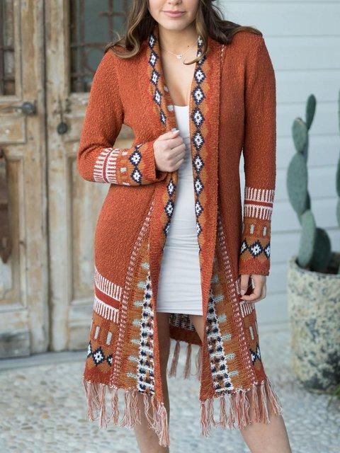 Bohemian Cardigan Fringed Woolen Jacket