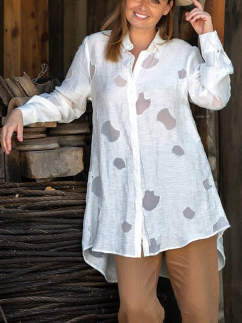 Calico Print Long Sleeve Casual Shirt