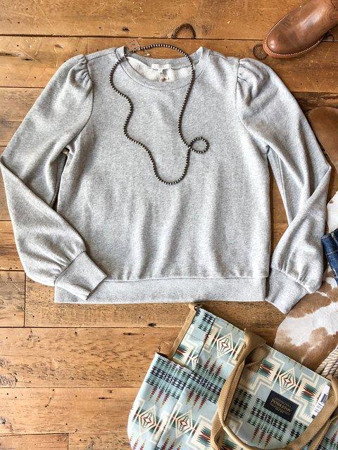 Gray Cotton-Blend Plain Casual Shirts & Tops