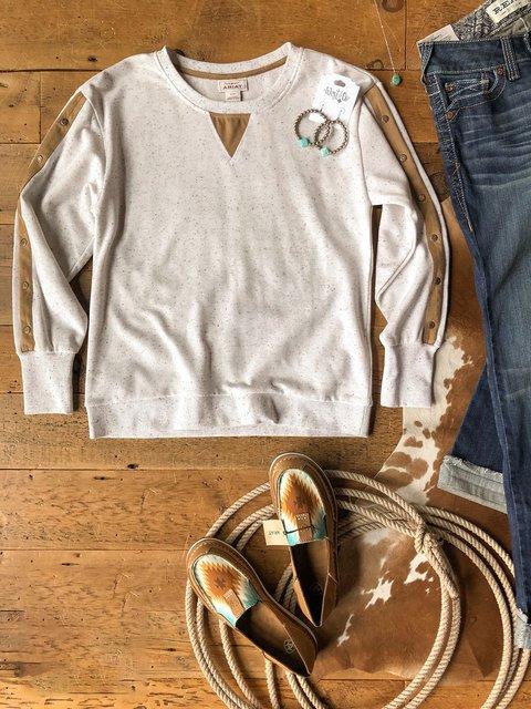 Apricot Casual Long Sleeve Sweatshirt