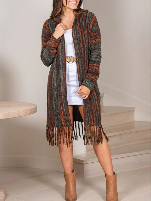 Ethnic style bohemian loose cardigan