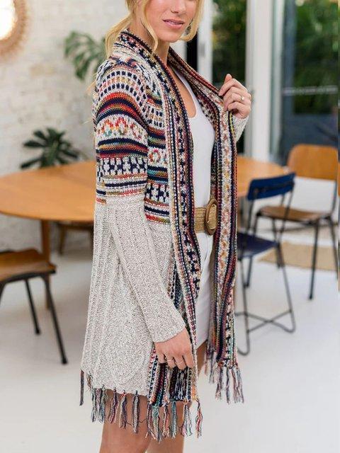 Mid-length mohair cardigan