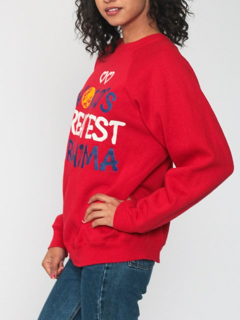 Retro sweatshirt printed sweatshirt