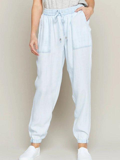 Light Blue Casual Shift Pants
