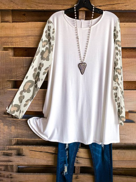 White Leopard Casual Shirts & Tops