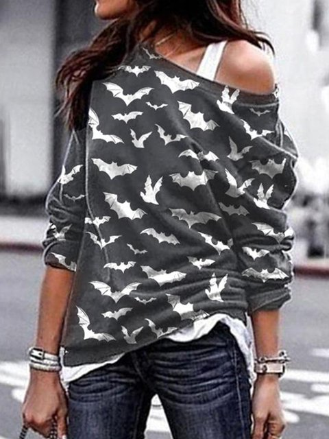Cotton-Blend Animal Casual Shirts & Tops