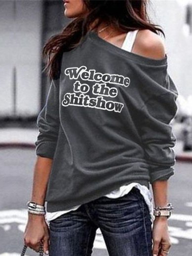 Ladies Personalized Letter Print Top