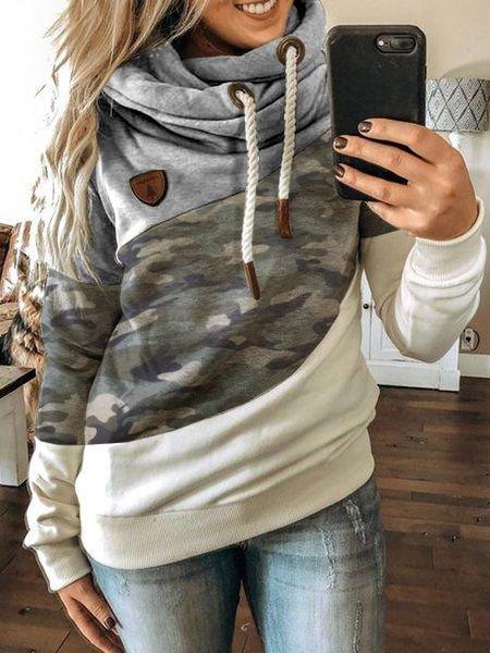 Gray Shift Casual Sweatshirt