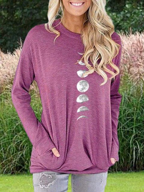 Long Sleeve Casual Printed Sweatshirt
