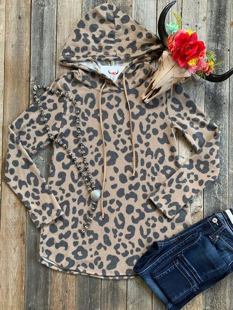 Leopard Casual Jersey Leopard Sweatshirt