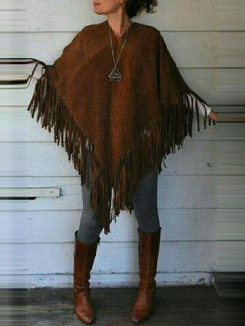 Asymmetrical Suede Vintage Outerwear