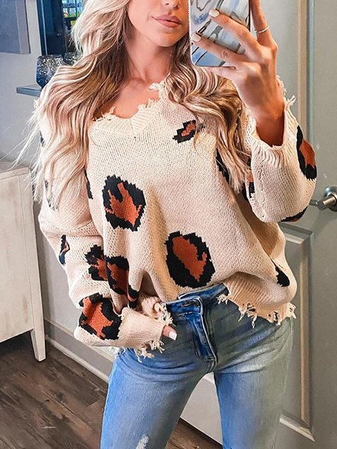 Knitted Heart Print Off Shoulder Sweater
