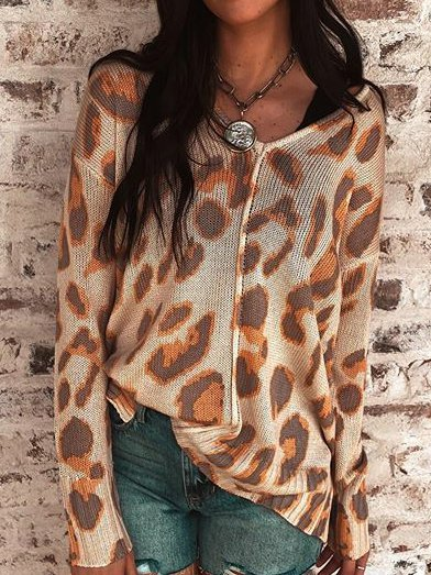 As Picture Long Sleeve Printed Shirts & Tops