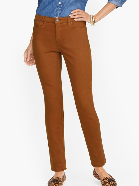 Light Kahaki Cotton-Blend Casual Plain Pants