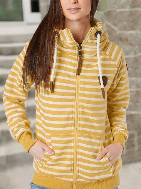 Yellow Shift Long Sleeve Sweatshirt