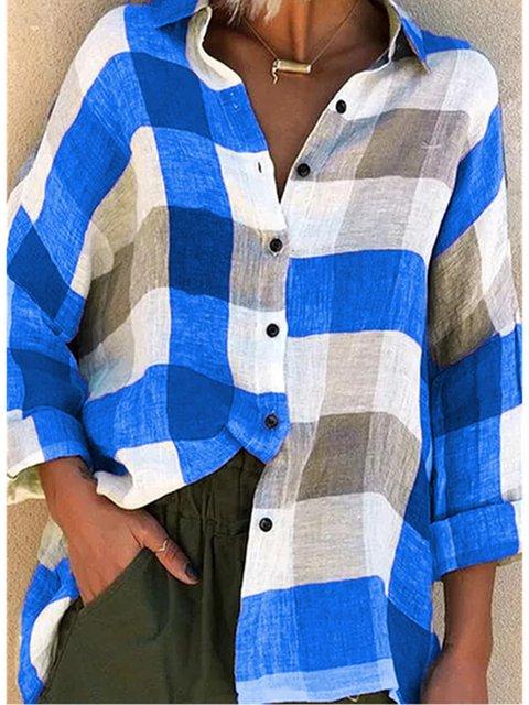 Long Sleeve Checkered/plaid Shirts & Tops