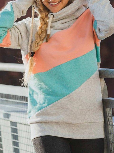Pink-Gray Shift Casual Geometric Shirts & Tops