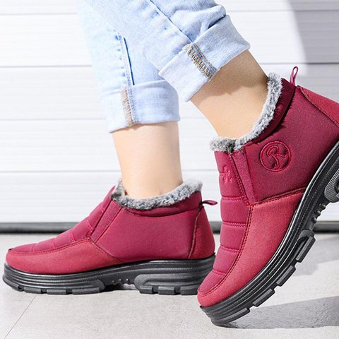 Holiday Embroidery Winter Boots