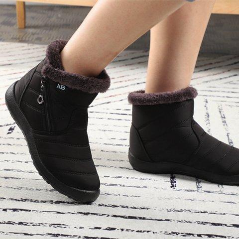 Winter Cloth Flat Heel Boots