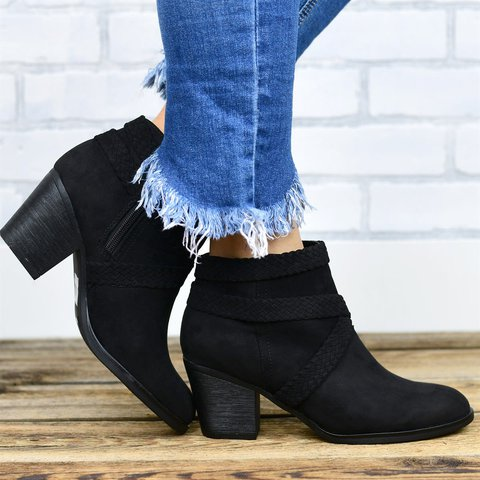 Block Heel Winter Boots
