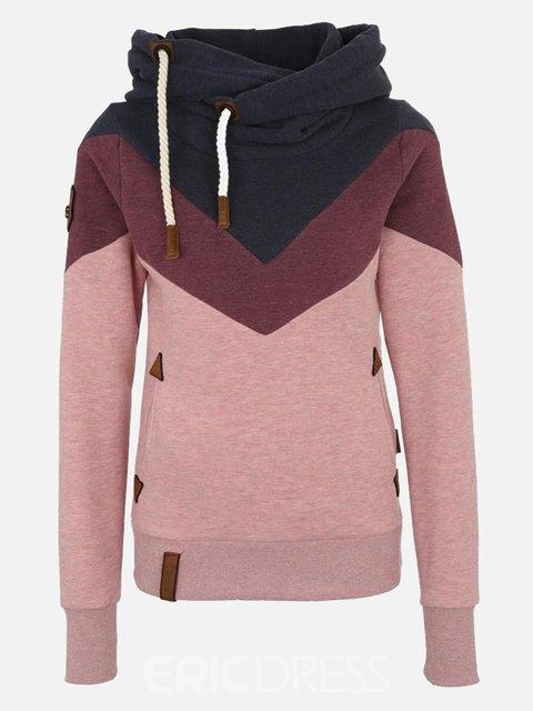 Pink Hoodie Long Sleeve Sweatshirt
