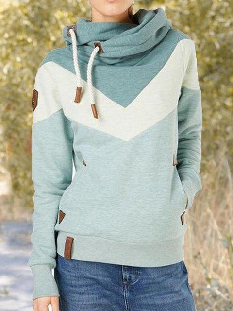 Blue Shift Hoodie Casual Sweatshirt
