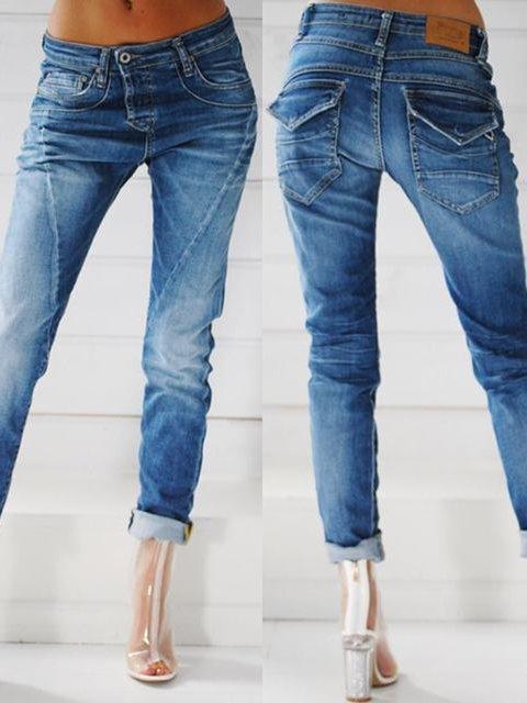 Blue Denim Shift Pants  Jeans