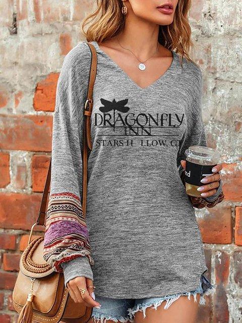 Dragonfly Gilmore Girls TV Show Print Fan Print T-shirt