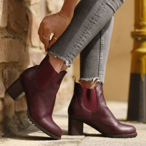 Winter Daily Leather Boots