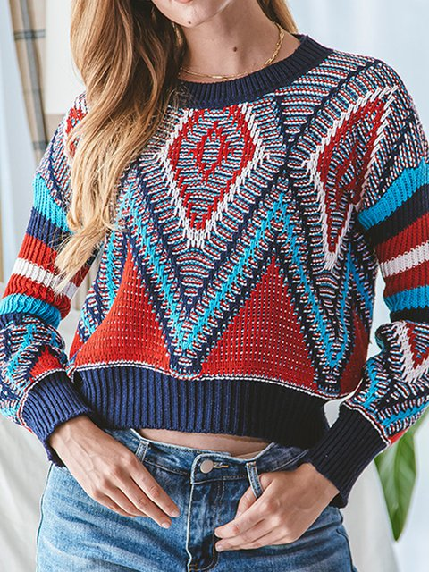Deep Blue Shift Vintage Sweater