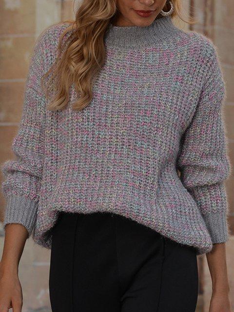 Ombre/tie-Dye Long Sleeve Sweater