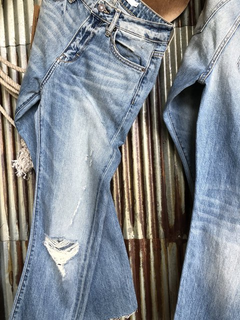 High Rise Straight Crop Jean Pant