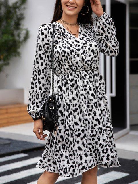 Black Paneled Holiday Long Sleeve Dresses