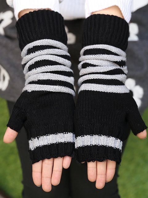 Black Vintage Gloves & Mittens