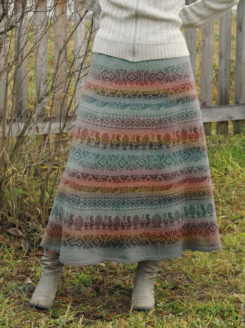 As Picture Printed Tribal A-Line Vintage Skirts