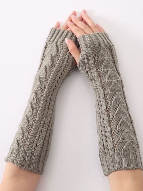 Casual Knitted Women All Season Gloves & Mittens