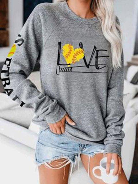 Women's Love Softball Sweatshirt