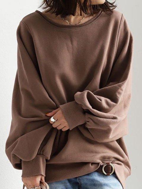 Coffee Long Sleeve Simple Shirts & Tops