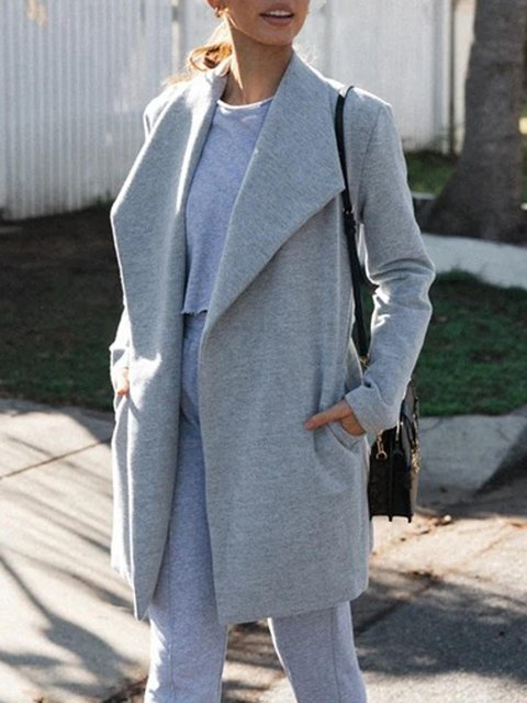 Long Sleeve Casual Swing Outerwear