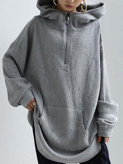 Gray Shift Long Sleeve Sweatshirt