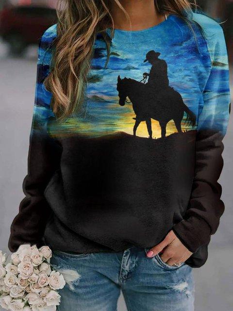 Ladies Western Series Printed Sweatshirts