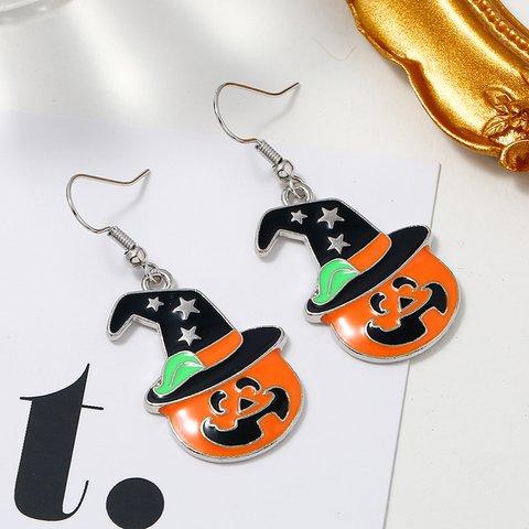 Halloween Orange Pumpkin Earrings