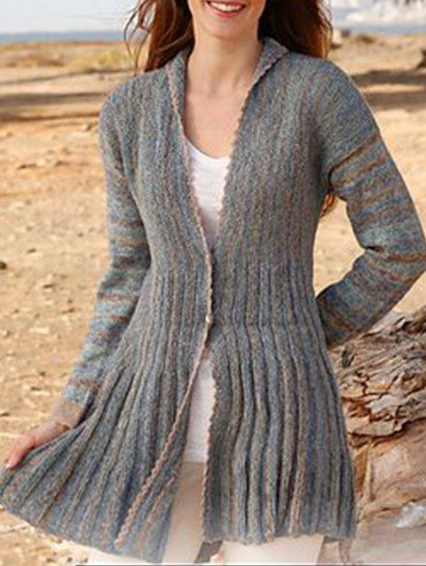 Blue-Gray Holiday Long Sleeve Sweater
