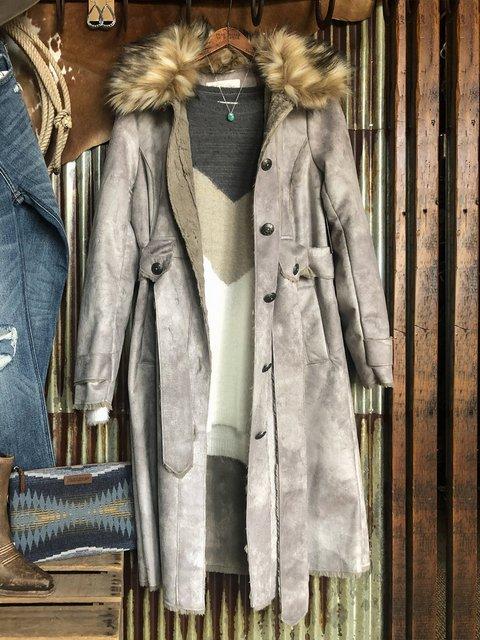 Gray Casual Outerwear