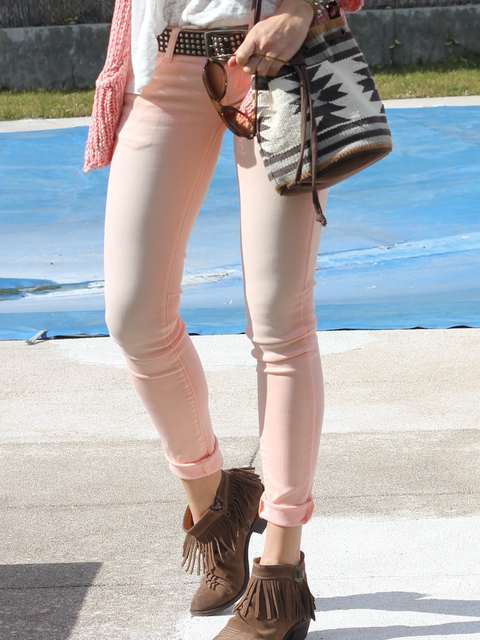 Casual Solid Color Slim Pants