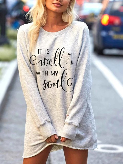 Women's my soul print long sweatshirt is good