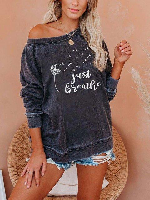 Just Breath dandelion print comfort sweatshirt
