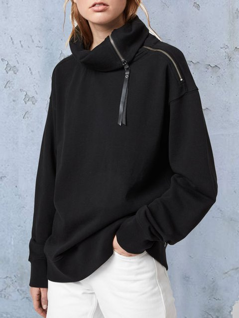 Wear a zip-up sweatshirt at all times