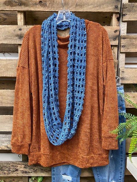Brown Acrylic Sweater