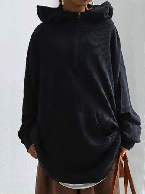 Long Sleeve Plain Sweatshirt